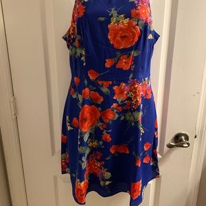 Lulus floral chiffon dress.